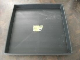 Large garden tray by Garlands . Made of plastic . Size :1.2m by 1.2m and 12cm high