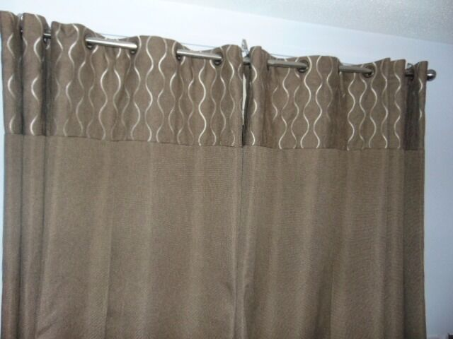 Curtains Ideas curtains cardiff : 2 x Sets of Brown Eyelet Curtains with Cream Accents | in Cardiff ...