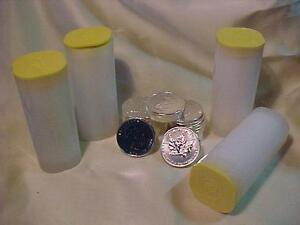 2009 .9999 SILVER MAPLE 1 TROY OZ. COINS-IN TUBES-BELOW DEALERS