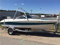 1993 Larson 190 Bowrider, 5.0L, wake tower, clean, $6699.00