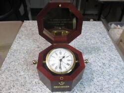 Bulova Quartermaster Maritime Quartz Mantel Desk Alarm Clock B7910 Farah Inc.