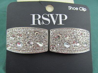 RSVP Rhinestone Shoe Clips NEW on Card