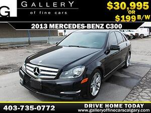 2013 Mercedes C300 4Matic $199 bi-weekly APPLY NOW DRIVE NOW