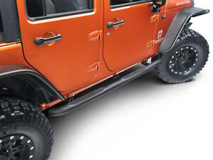 Smittybilt Side Steps Running Boards, Matte Black, JEEP Wrangler