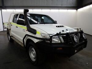 2012 Toyota Hilux KUN26R MY12 SR (4x4) Glacier White 4 Speed Automatic Dual Cab Pick-up Albion Brimbank Area Preview