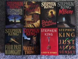 STEPHEN KING hardcover books for sale - 8 books in total - $40