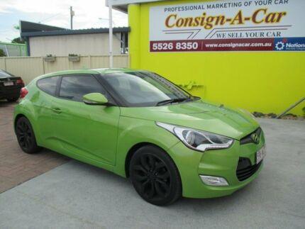 2011 Hyundai Veloster FS Coupe D-CT Green 6 Speed Sports Automatic Dual Clutch Hatchback Bundall Gold Coast City Preview