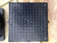 320mm Polypipe Square Plastic Inspection Pit Cover & Frame