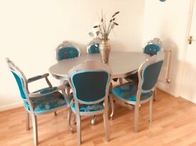 Selling Almost New Chic Italian/French Style Dinning Table and 6 Chairs due to Moving