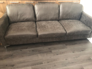 Brand New Leather sofa for Sale - Grey