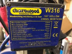 Charnwood Mortiser W316 + cutter chisels