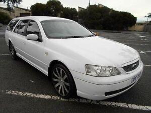 2003 Ford Falcon BA Futura White 4 Speed Auto Seq Sportshift Wagon Maidstone Maribyrnong Area Preview