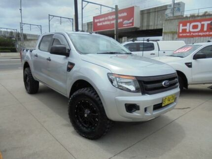 2012 Ford Ranger PX XL Hi-Rider Silver Auto Sports Mode 4D Utility