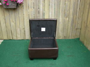 Leather look hope chest