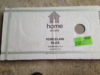 Homebase Porcelain Floor and Wall Tiles - Half Price