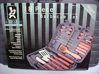 (NEW Gourmet Traditions Full 18 Piece Barbeque Grilling Cooking Outdoor Grill Set)