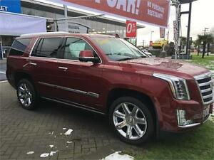 2016 Cadillac Escalade Premium Collection Red with KONA brown
