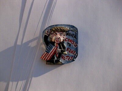 """President Donald Trump """"Never Concede"""" 2020 Presidential Campaign Pin"""