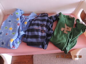 Boy's 2T Fleece Sleepers/Onesies & Flannel PJ's London Ontario image 1