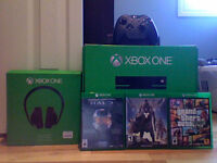 Xbox One With Kinect, Xbox One Headset(Plus 3 Games)