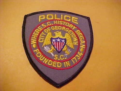GEORGETOWN SOUTH CAROLINA POLICE PATCH SHOULDER SIZE UNUSED