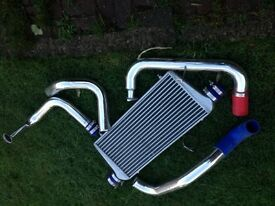 Pulsar GTIR aftermarket front market intercooler and pipes, new, cheap, £85 SR6