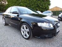 Audi A4 2.0 TDI 170 S-Line, DIESEL, Black, Only 1 Previous Keeper, Very Low Miles,