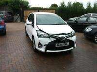2016 Toyota Yaris 1.0 ICON VVT-I 3DR SALVAGE DAMAGED REPAIRABLE DRIVES