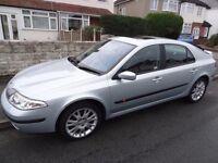 Silver 2002 Renault Laguna, long MOT, bargain at £350