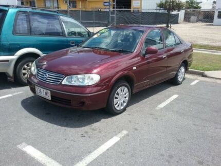 2005 Nissan Pulsar Burgundy 5 Speed Manual Sedan Bungalow Cairns City Preview