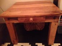 little square wooden table
