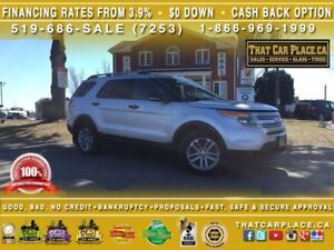 2013 Ford Explorer XLT|$94/Wk|4WD|7Pass|Htd Lthr|Sunroof|Backup