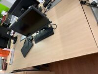 EIZO Monitor + HP keyboard and mouse + HP docking station