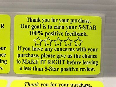 500 Ebay Amazon Etsy Thank You For Your Purchase Stickers 2 x 3 Label Labels NEW (Etsy Ebay)