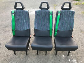6 MINIBUS / CAMPER / SINGLE SEATs WITH SEAT BELTs &with UNWIN TRACK FIXING