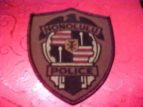 HONOLULU HAWAII POLICE PATCH SHOULDER SIZE UNUSED OLIVE DRAB
