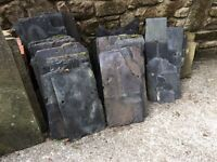Welsh Blue Roof Slates - Lots of various sized blue slates Leftover from building project