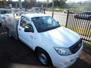 2011 Toyota Hilux GGN15R MY11 Upgrade SR White 5 Speed Manual Cab Chassis Homebush West Strathfield Area Preview