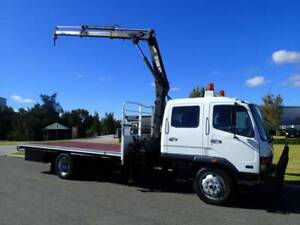 Mitsubishi 6 Tonne Dualcab Crane truck Welshpool Canning Area Preview