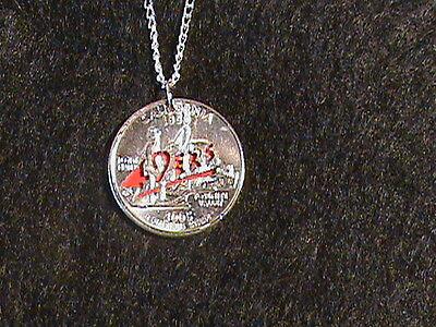 Hand cut California Quarter with a San Fransisco 49ers theme](49ers Theme)