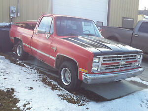 1986 Chev Silverado Shortbox Fleetside ~ Project in Progress