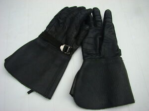 Leather Gauntlet Riding Gloves