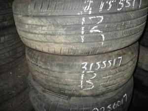 215/55 R17 MICHELIN A/S ALL SEASON USED TIRES (SET OF 2) - APPROX. 85% TREAD
