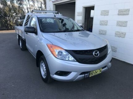 2012 Mazda BT-50 XT (4x2) Silver 6 Speed Manual Cab Chassis