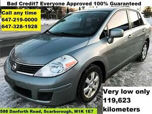 2007 Nissan Versa S Auto Certified FINANCE WARRANTY 119,623KM