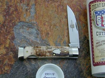 GREAT EASTERN GEC AMERICAN ELK WALLSTREET LOCKBACK KNIFE RARE 1/276 MIT 990118