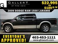 2009 DODGE RAM LARAMIE CREW *EVERYONE APPROVED* $0 DOWN $189/BW!