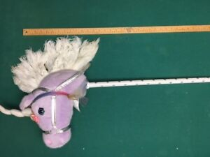 """Playful Plush Head Riding Horse Roar with Sound Vintage 39"""""""