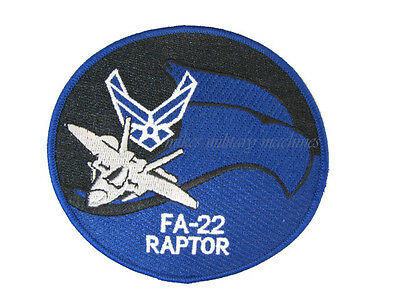 USAF Air Force ANG FA-22 F-22 Raptor Stealth Fighter Pilot Wing Patch New