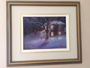 Laurent Lafleur Oil on Canvas framed/matted